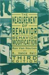 The Measurement of Behavior: Behavior Modification