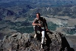 Loeffler at field site, in Zagros mountains by Kati Friedl