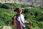 Farmer in his fruit garden, Boir Ahmad by Reinhold Loeffler