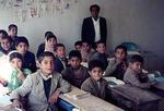 Schoolroom in remote Boir Ahmad by Reinhold Loeffler