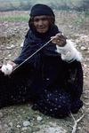 Woman spinning, Boir Ahmad by Reinhold Loeffler