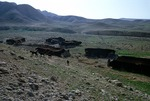 Goats setting up from camp of transhumance pastoralists, Boir Ahmad by Reinhold Loeffler