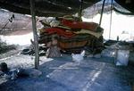 Interior of black tent of transhumance pastoralists, Boir Ahmad, Iran by Reinhold Loeffler