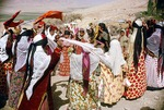 Women's dance at wedding, rural Boir Ahmad by Reinhold Loeffler