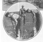 British POWs Remove Bark from Logs
