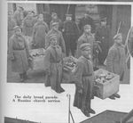 Russian POWs Deliver Bread Rations in a German Prison Camp