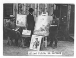 YMCA Secretary and Two Russian Artists in a German Prison Camp