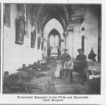 Wounded French Prisoners at the Church in Florenville