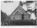 French and Belgian Troops at Church at Senne
