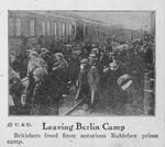 Repatriation of Britiish Civilians from Ruhleben