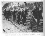Russian POWs Pull a Wagon at Doeberitz