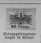 20 Pfennig Stamp from Erfurt