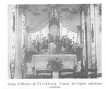 Catholic Altar in the Prison Camp at Friedberg