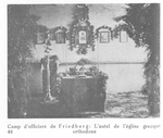 Orthodox Altar in the Prison Camp at Friedberg