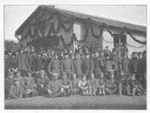 Russian POWs outside the YMCA Hall at Goettingen