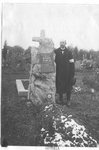 YMCA Secretary Hertig in the Cemetery at Spratzern